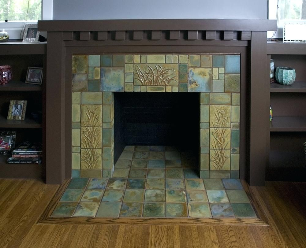 Fireplace Tiles Antique Green Floor To Ceiling Images For Sale Craftsman Tile Craftsman Fireplace Fireplace Tile
