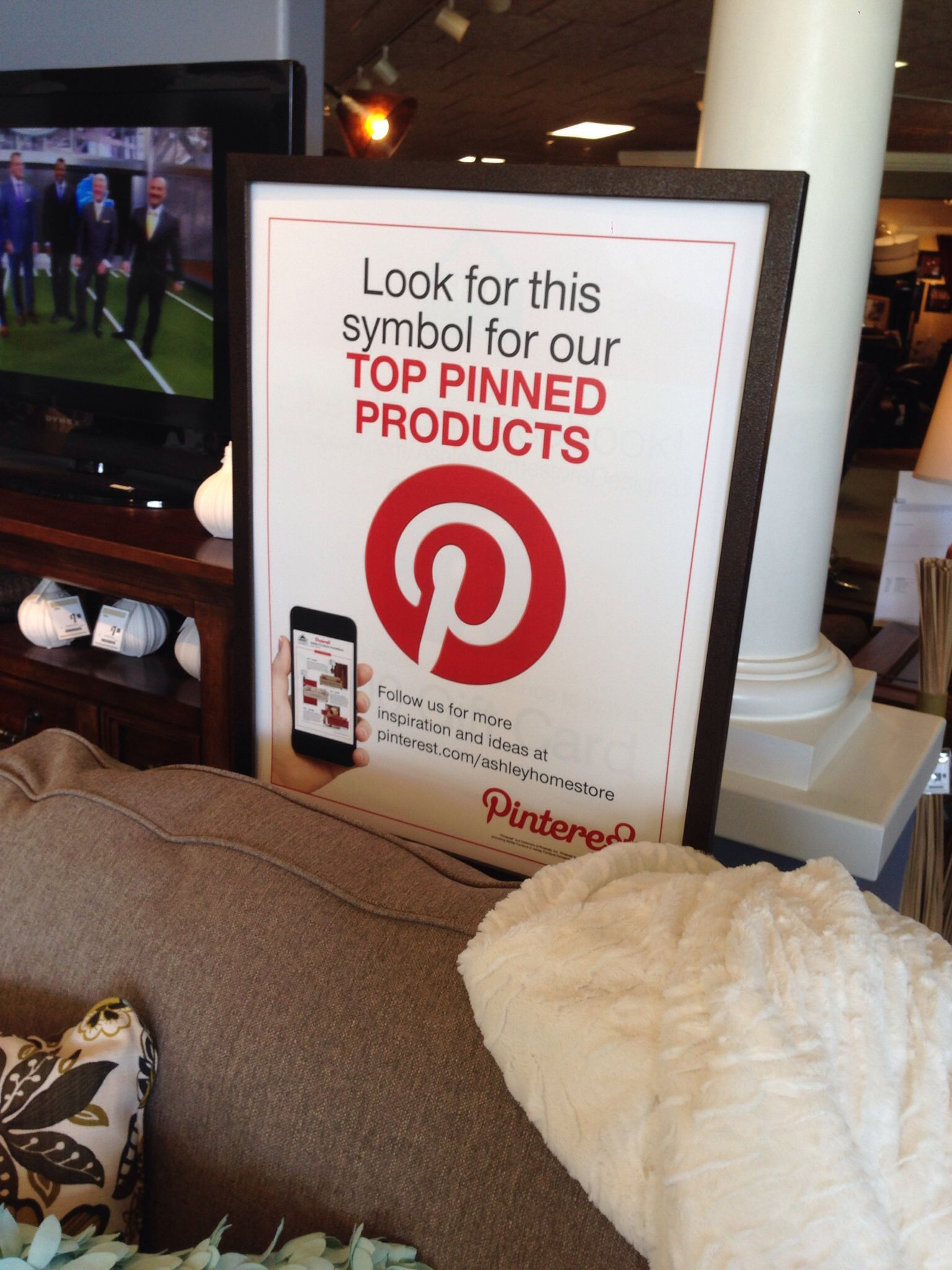 Real Example Of Pinterest Used In A Business Close To Home Ashley Furniture