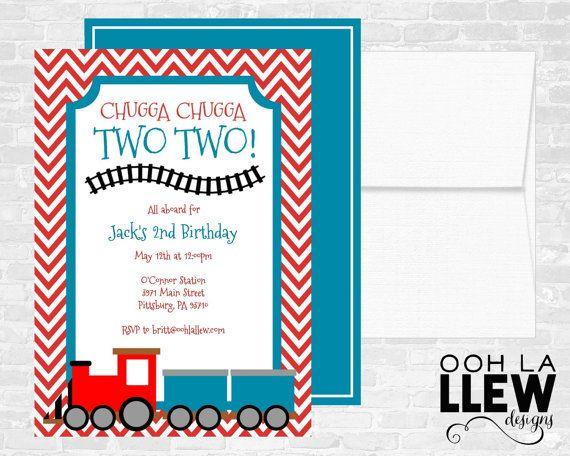 Train Invitation Birthday Invitations