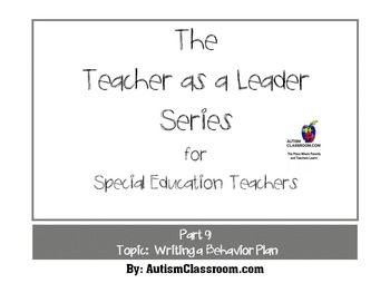 The Teacher As A Leader Series For Special Education Teachers Part