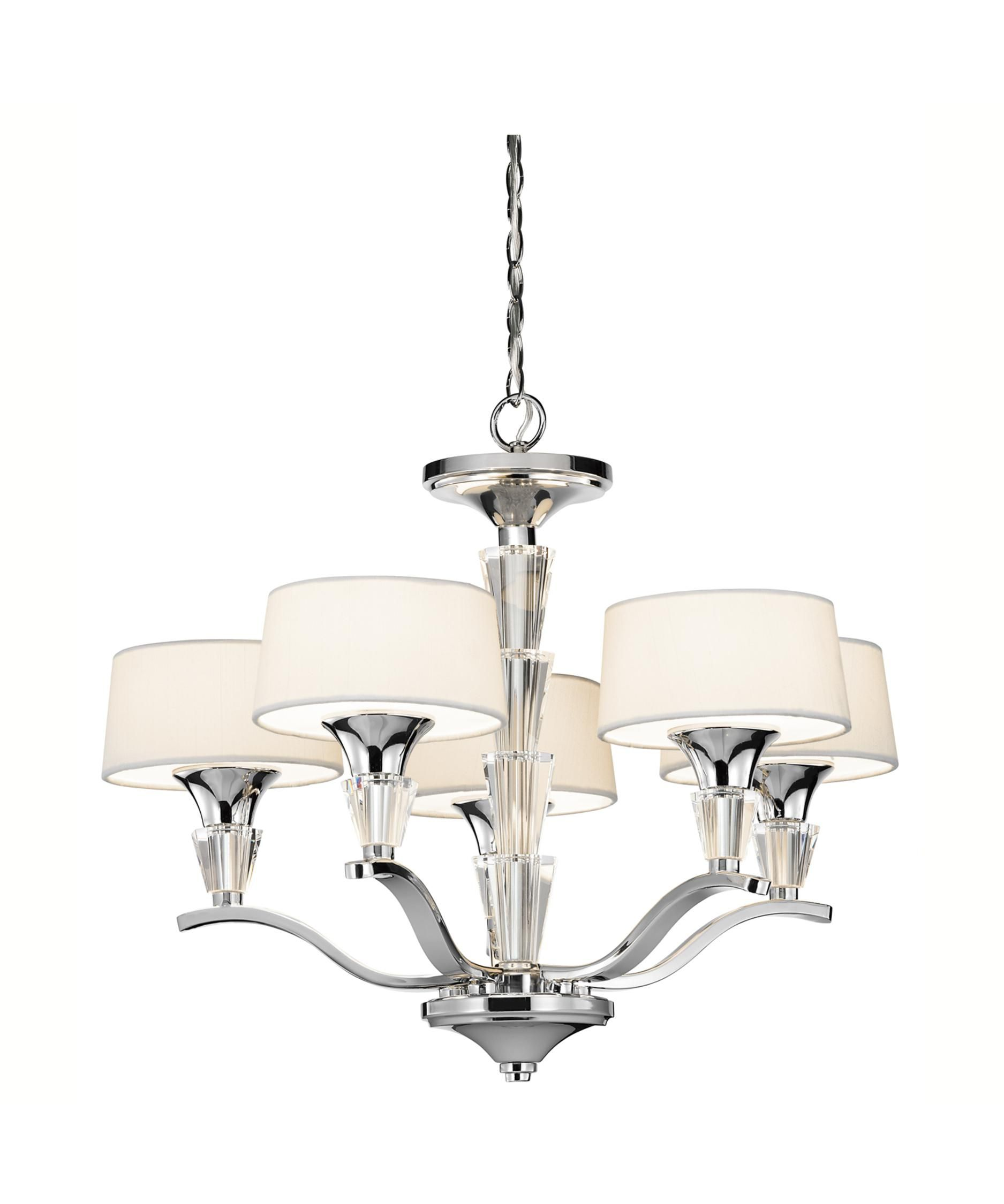 Crystal Persuasion 17 Inch 5 Light Mini Chandelier By
