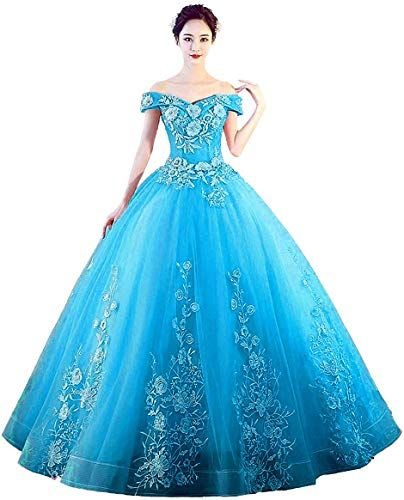 Best Seller LEJY Women's Off The Shoulder Quinceanera Dresses Applique Masquerade Ball Gowns Prom Dresses online - Theperfectgreat