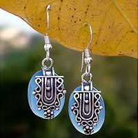 Just received these yesterday...the silver work is stunning!   Sterling silver dangle earrings, 'Morning Dew' by NOVICA