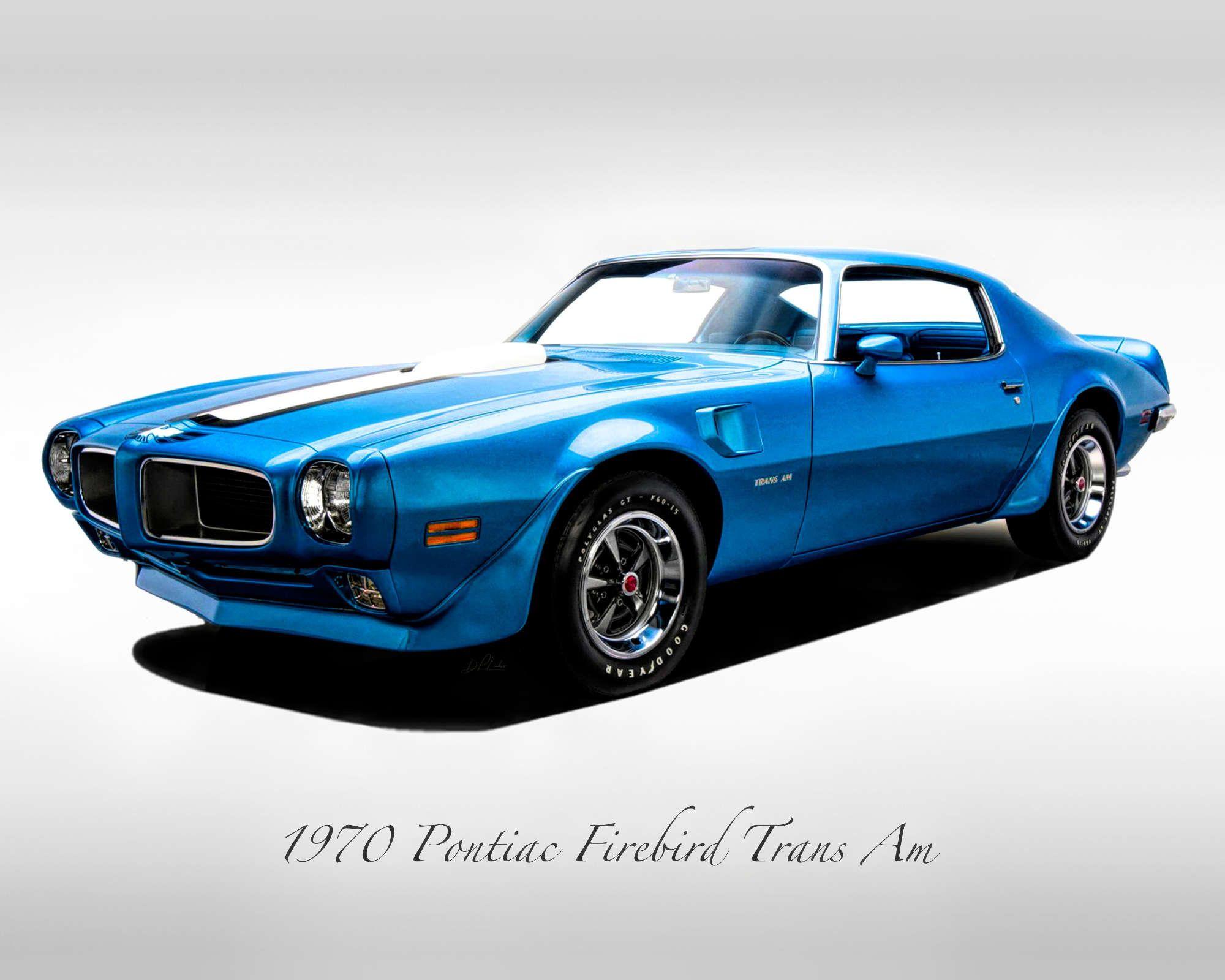 Classic Cars – 1970 Pontiac Trans Am – Muscle Car – Print
