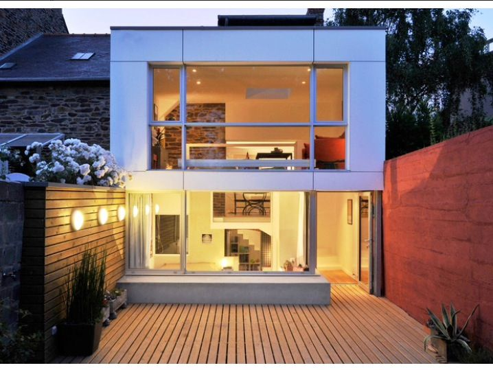 Extension Rennes 1 House extension and Windows Pinterest