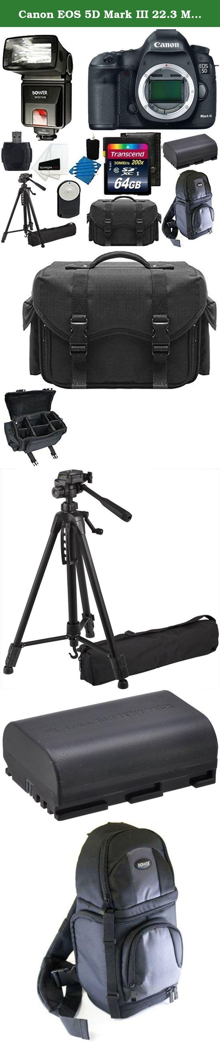 Canon EOS 5D Mark III 22.3 MP Full Frame CMOS with 1080p Full-HD ...