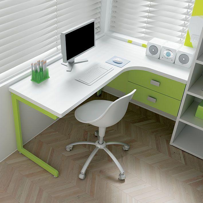 Risultati immagini per scrivania ad angolo | camerette bimbi ...