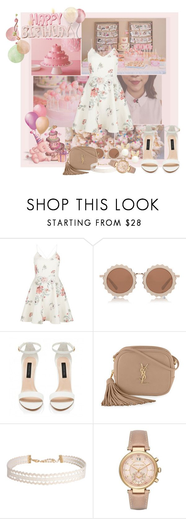 """""""May's child"""" by nicolepuppy ❤ liked on Polyvore featuring New Look, House of Holland, Yves Saint Laurent, Humble Chic, Michael Kors and Lipsy"""