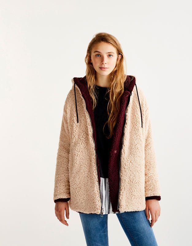 reversible shearling jacket coats and jackets clothing. Black Bedroom Furniture Sets. Home Design Ideas
