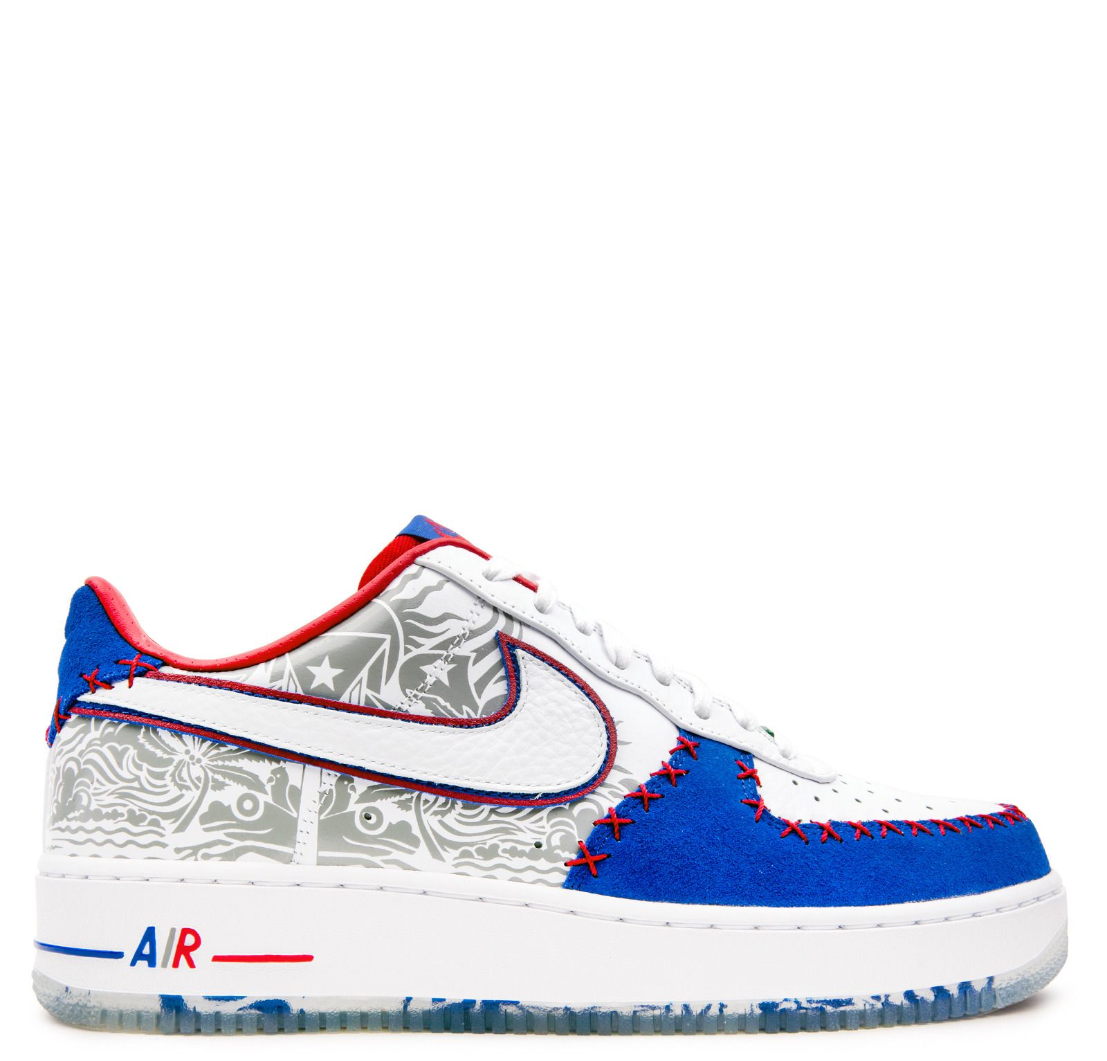 10d607abdf6 discount code for nike air force 1 low puerto rico white royal red ...