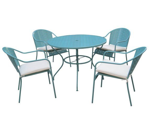 Buy Rayleigh 4 Seater Garden Dining Set At Argos Co Uk Your Online Shop For Limited Stock Home - Garden Furniture Clearance Company Uk
