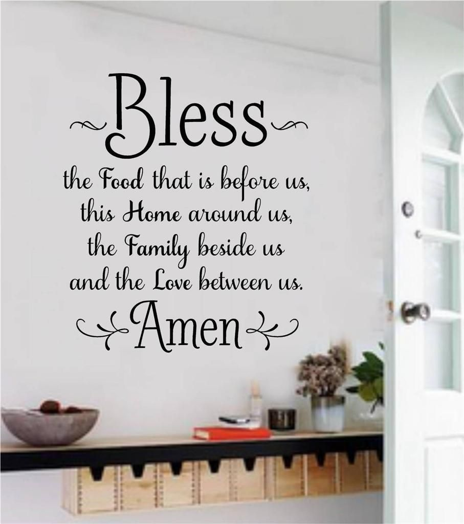 Bless The Food Before Us Wall Decals Vinyl Sticker Words Letters Art Home Decor Kitchen Wall Decals Bless The Food Home Design Decor