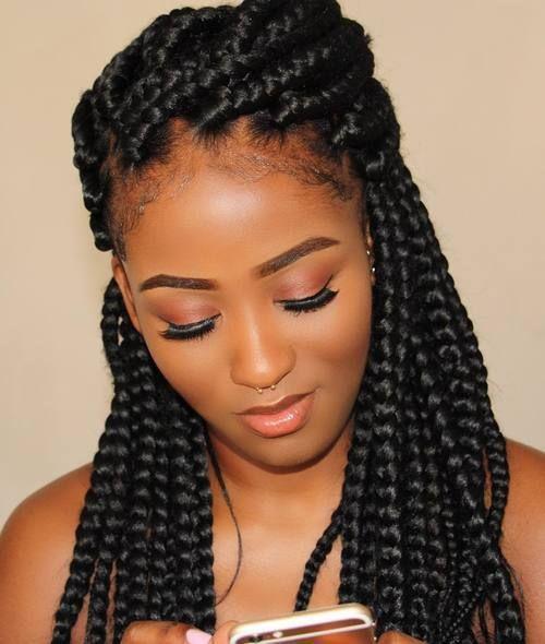 exquisite box braids hairstyles