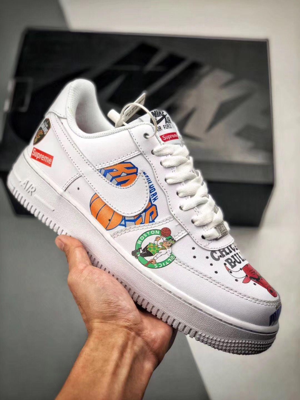 Nike Air Force 1 X Nba X Supreme Aq8017 300 All Nike Shoes Nike Nike Air Force
