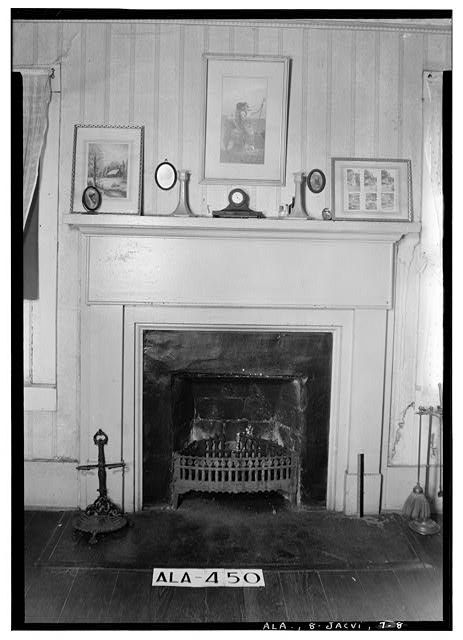 8.  Historic American Buildings Survey W. N. Manning, Photographer, January 23, 1935 MANTEL IN SOUTH BED ROOM UPSTAIRS - Arnold-Rowan House, 201 Murphy Street, Jacksonville, Calhoun County, AL