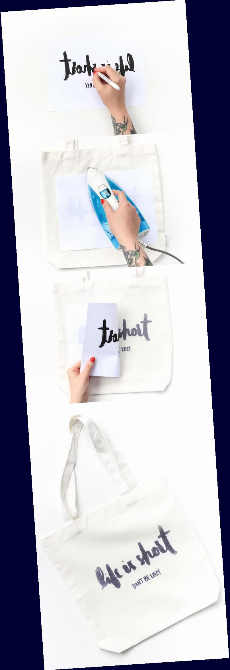 Diy iron transfer tote the crafted life learn how to