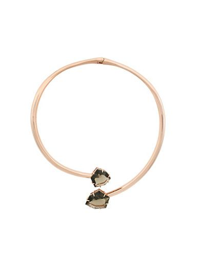 Vince Camuto Crystal Collar Necklace Women's Rose Gold