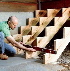 Gartentreppe aus Holz selber bauen - Anleitung und ...