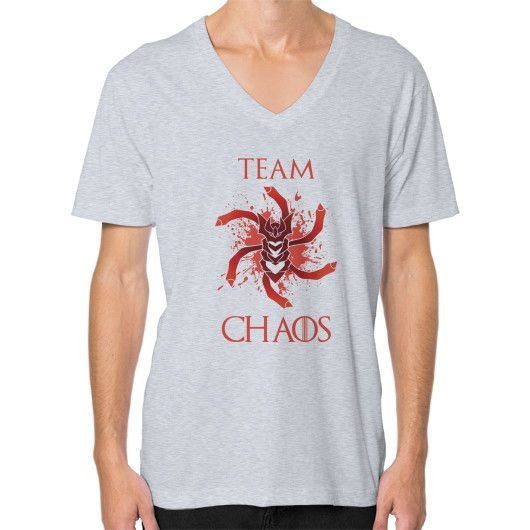 Team Chaos V-Neck (on man)