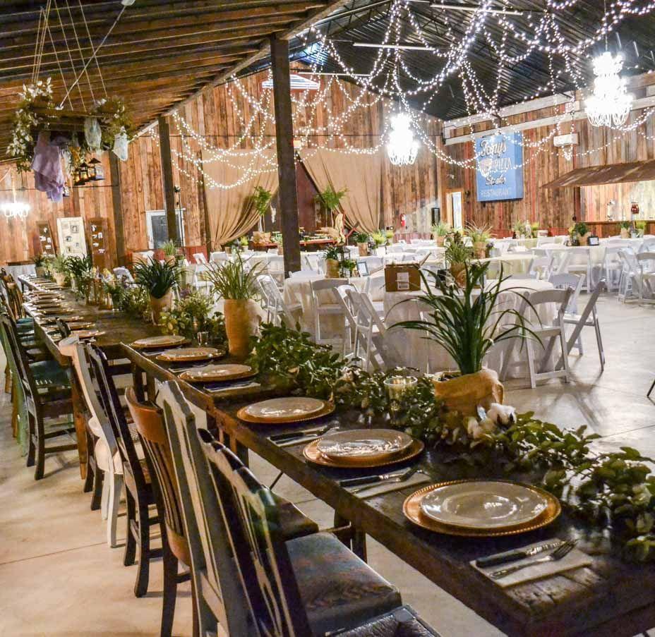 Reception decor...Barn wedding and reception venue in