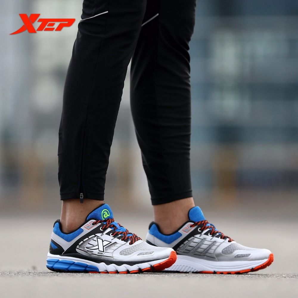 Xtep Original Brand Men S Professional Running Shoes Wearable Sports Trainers Shoes Breathable Athletic Sneakers 9 Sports Trainers Shoes Trainers Running Shoes