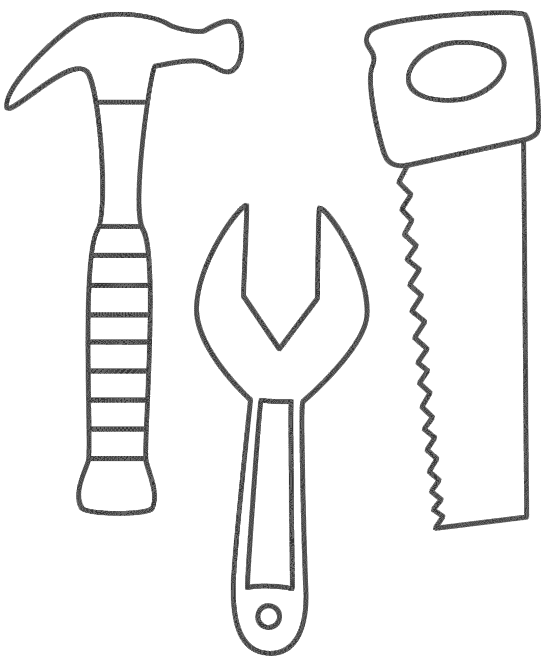 Uncategorized Construction Worker Coloring Pages coloring page preschool building pinterest craft sunday hammer saw and wrench pages use to make construction worker tool belt