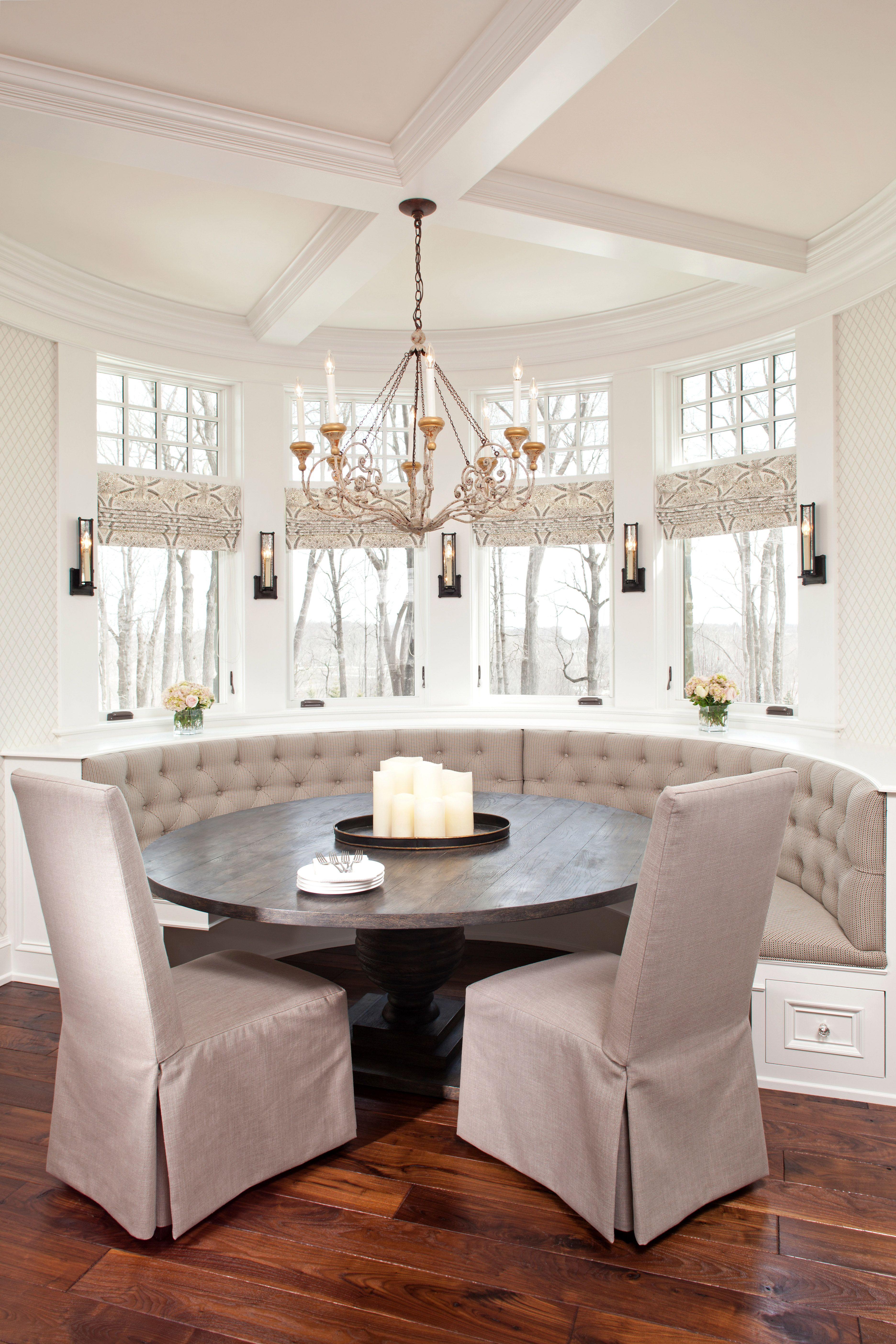 Breakfast Nook - Hamptons in the Country - Eskuche Design - www ...