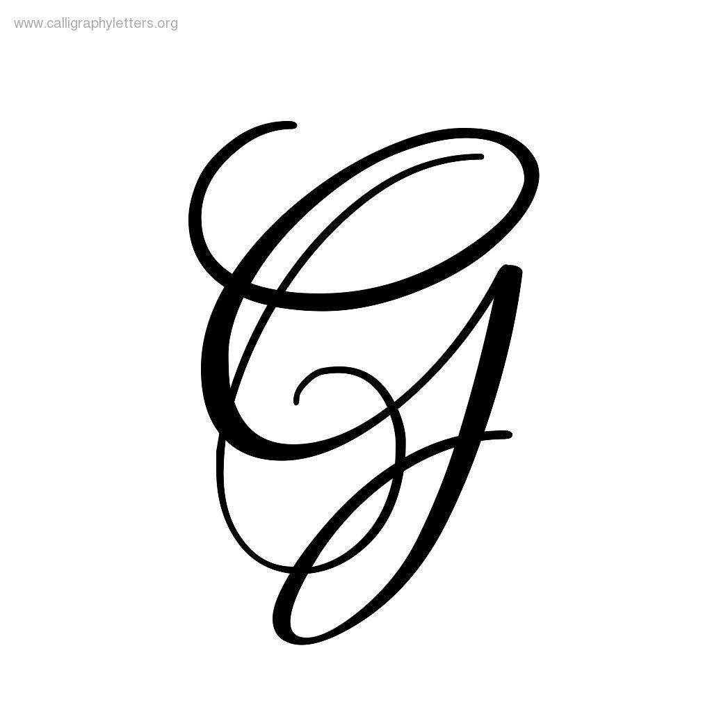 Fancy Letter G Calligraphy Clipart Best