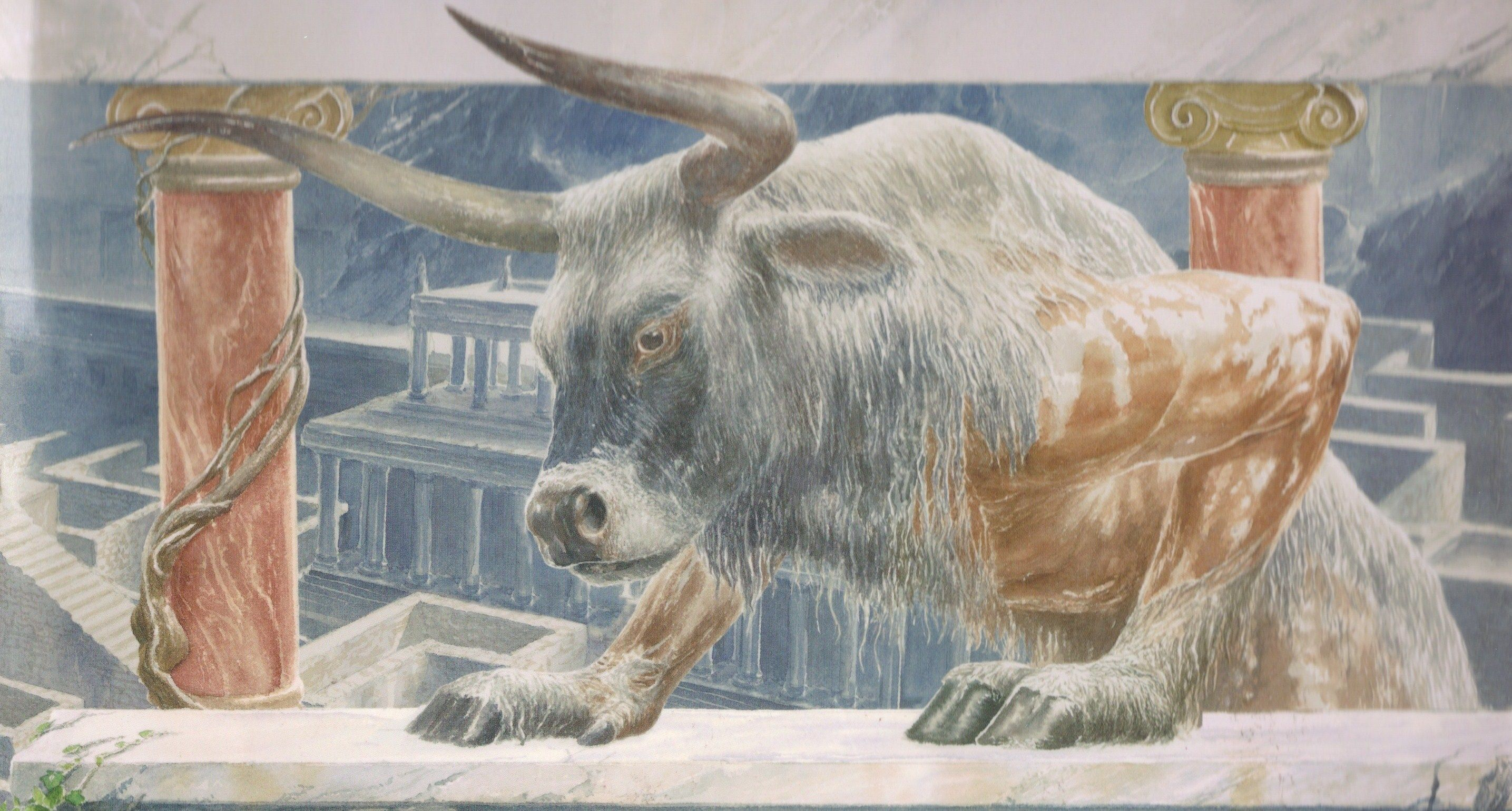 The Minotaur by Alan Lee  (The Labyrinth/Crete/Knossos
