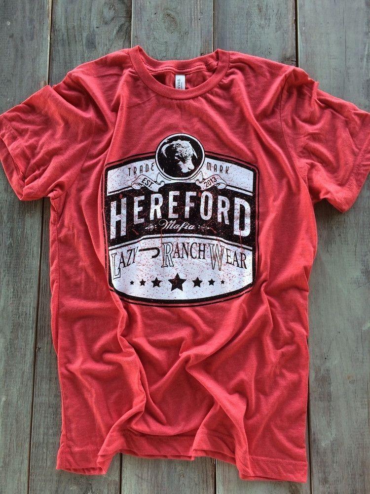 385f9dc7eee Lazy J Ranch Wear Hereford Mafia Tri-Blend Shirt (Red)