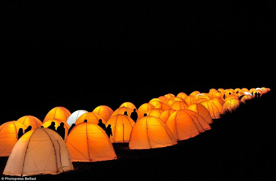 Welcome to the Peace C& Thousands of glowing tents spring up around the British coast to celebrate the Olympic Truce & Welcome to the Peace Camp: Thousands of glowing tents spring up ...