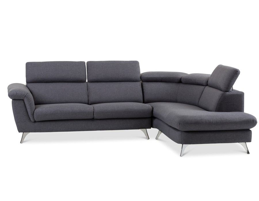 Kenley Sectional Sofa Right Dark Grey Our House