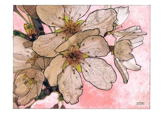 Cherry blossums artwork - Item #1509