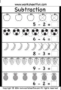 math worksheet : kindergarten subtraction worksheets  educational resources  : Kindergarten Subtraction Worksheets Free