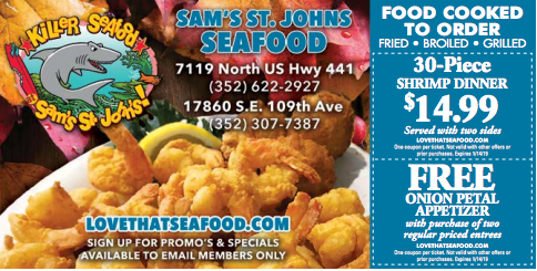 Sam S St Johns Seafood Cooking Seafood Food Coupon Seafood