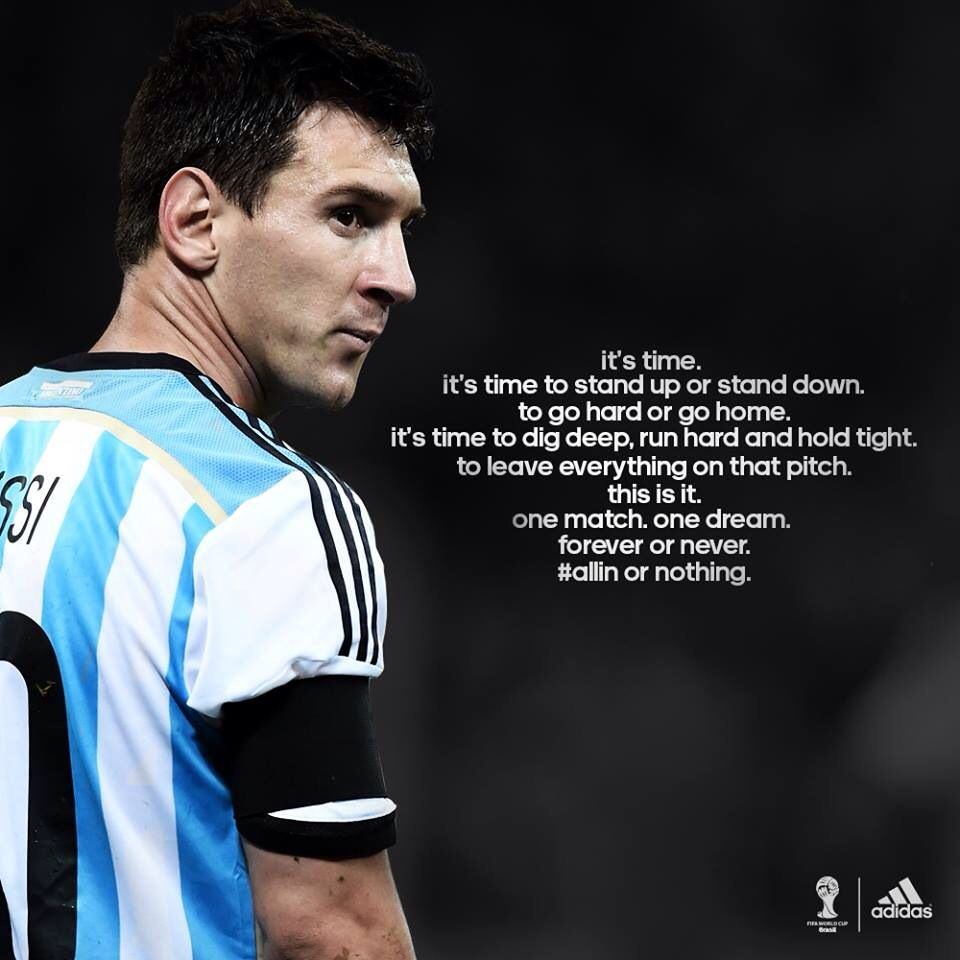 Messi Quote | Messi quotes, Lionel messi, Stand down