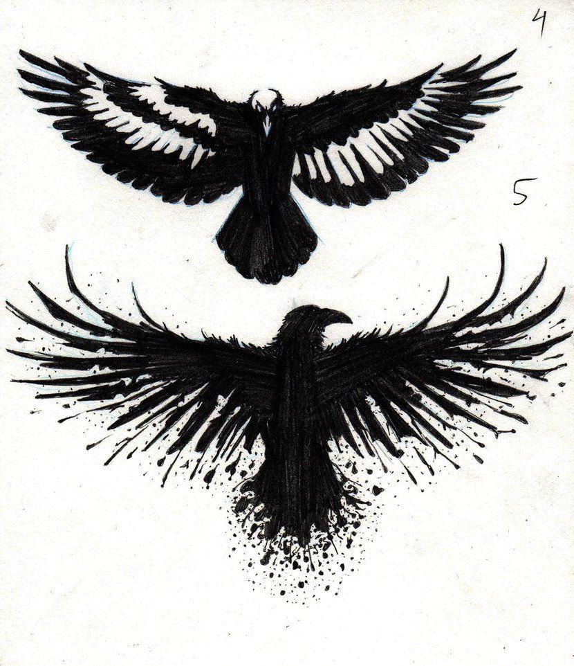 Crow Tattoo Designs by marcAhix.deviantart.com on @DeviantArt ...