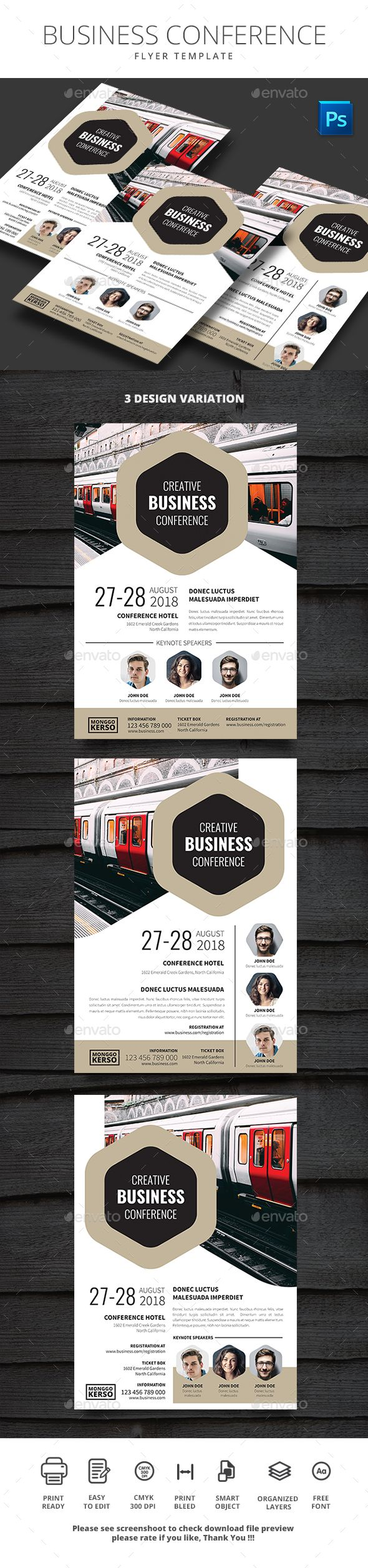 Business Conference  Flyer Template Business And Event Flyers