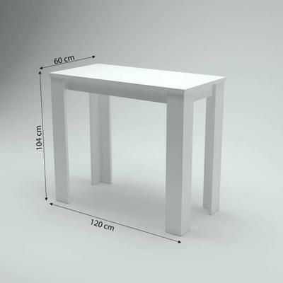 Sir william table de bar coloris blanc laqu id es brico pinterest bar table haute - Table mange debout blanc laque ...