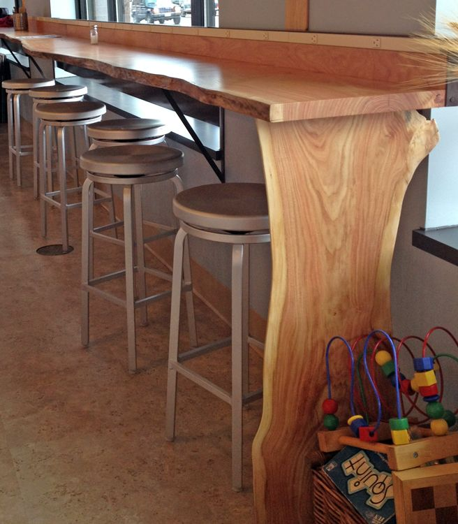 Live Edge Bar Counter Er Bakery Cafe Minneapolis