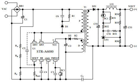 str a6000 typical application reference design ac to dc single rh rh in pinterest com