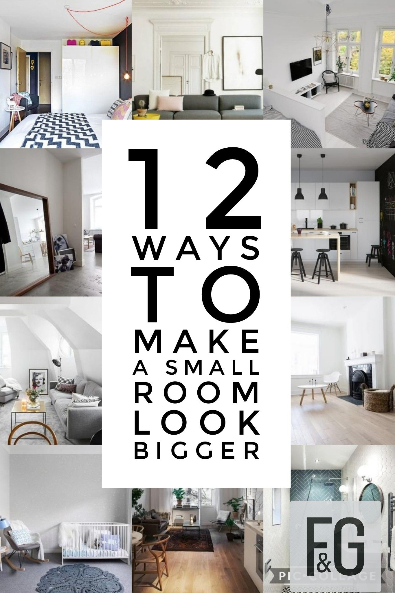 Photo of 12 Ways To Make A Small Room Look Bigger – F&G