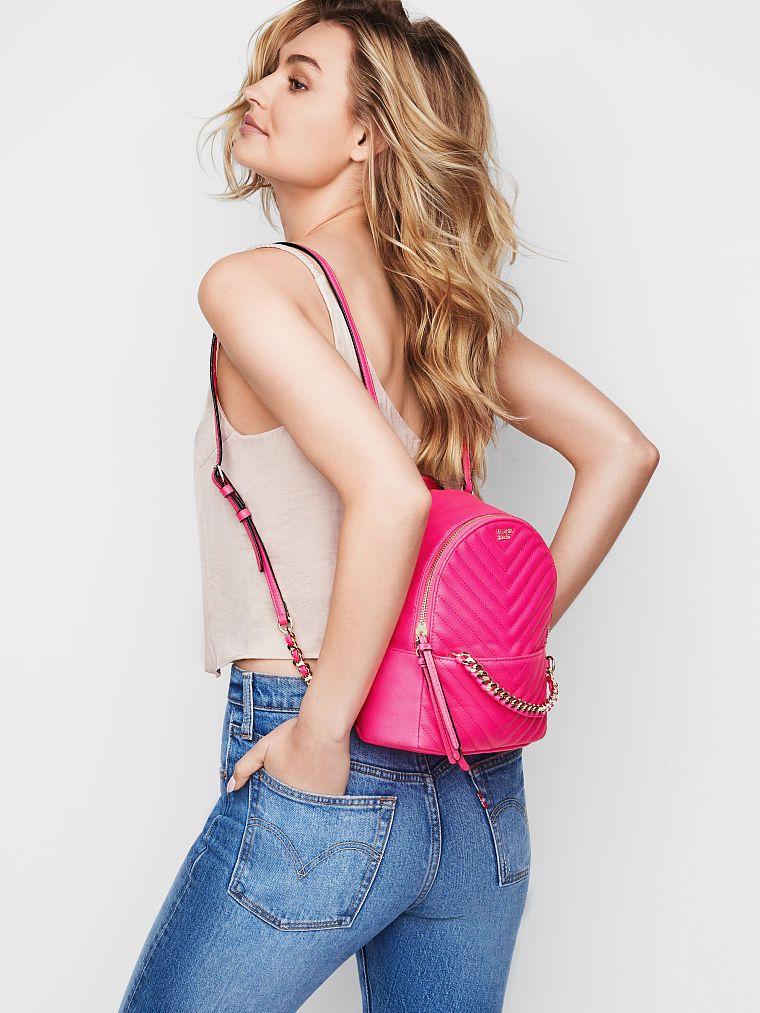 3c2368fdc12f Pebbled V-Quilt Small City Backpack - Victoria s Secret