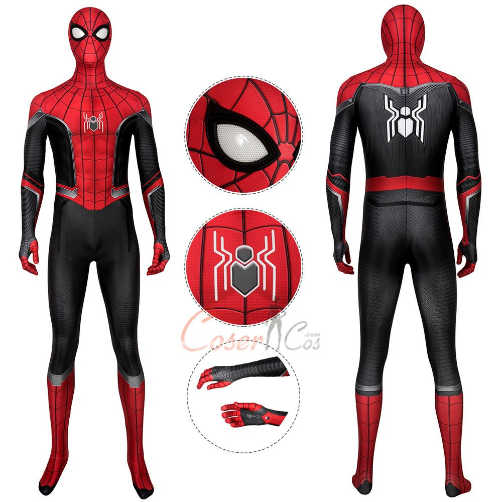 Spider Man Costume Spider Man Far From Home Cosplay Peter Parker Full Set Spiderman Captain Marvel Costume Hawkeye Costume