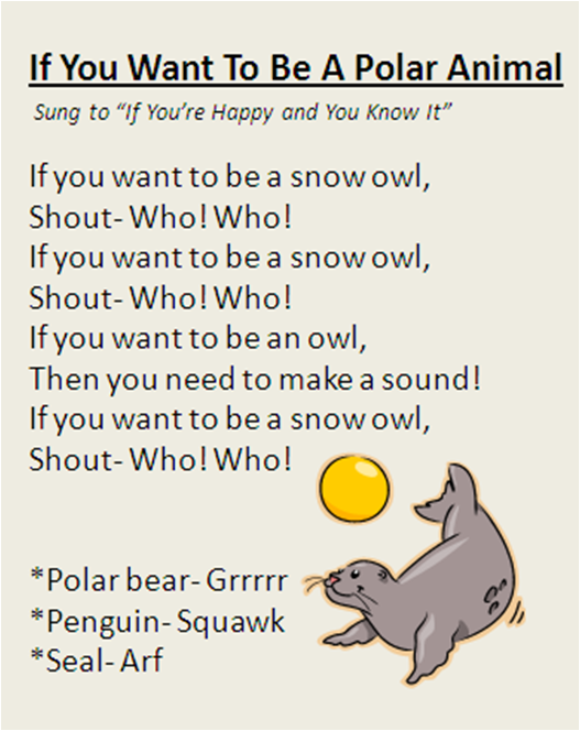 """If You Want To Be A Polar Animal"" song, great for Winter"