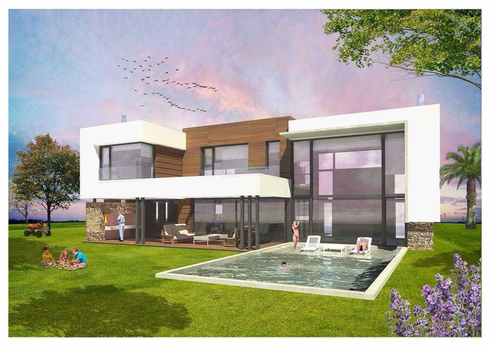 Summer house casa de verano casa moderna fachada piscina - Arquitectos casas modernas ...
