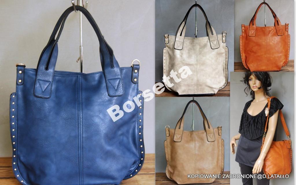 Torebka Shopper Lux Torba Worek Zarka 5 Kolorow 4514282843 Oficjalne Archiwum Allegro Tote Bag Reusable Tote Bags Tote