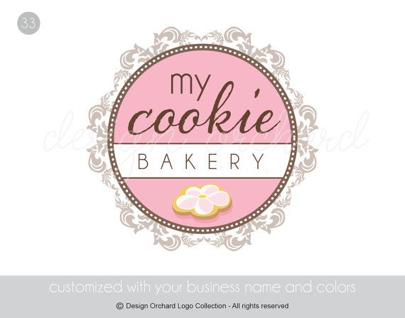 Elegant Bakery Logo With Cookie Illustration by DesignOrchard, $45.00