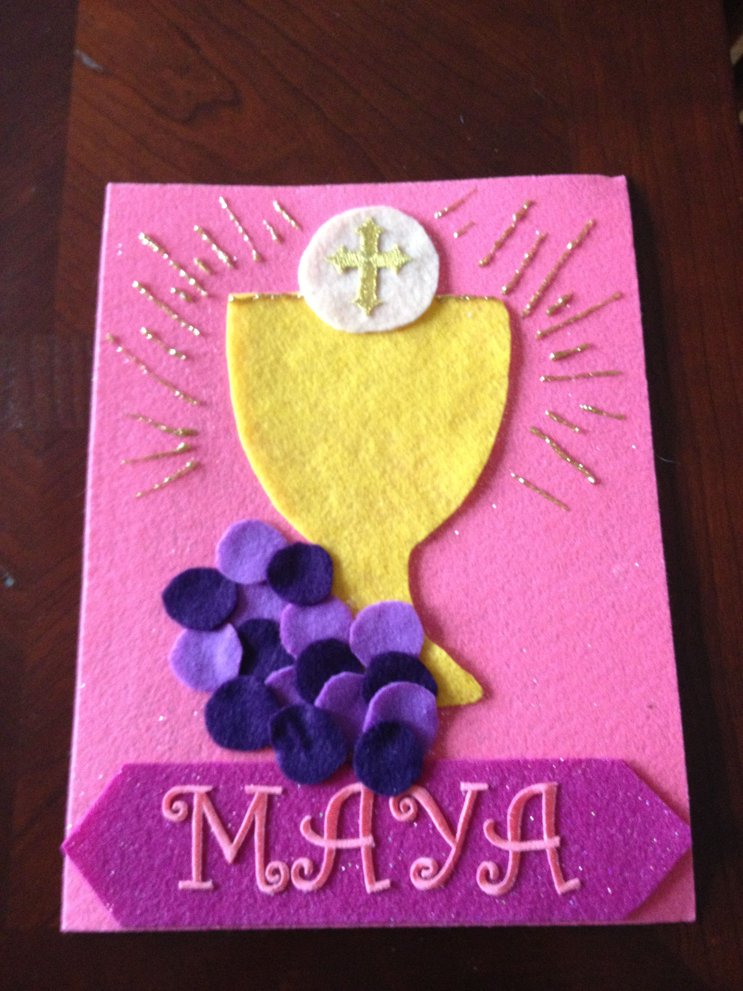 Holy communion banner first communion pinterest for First communion craft ideas