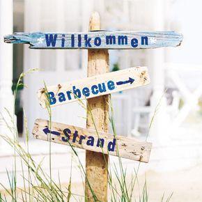 Beachparty-Deko: Einladung ins Strandhaus | Wunderweib